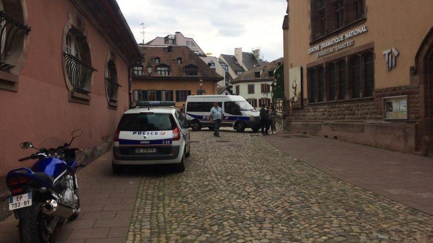 Le quartier de la Petite France à Strasbourg en partie bouclée.