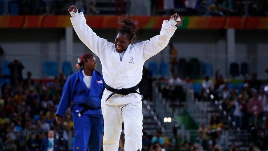 Émilie Andéol, championne olympique de judo à Rio en 2016.