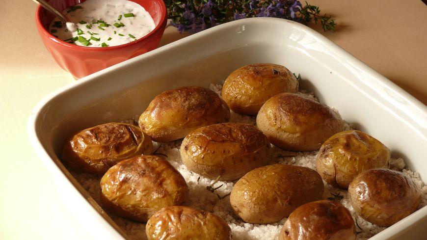 Pommes-de-terre de l'Ile de Ré cuites au gros sel