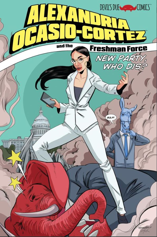 La représentante démocrate au Congrés américain Alexandria Ocasio-Cortez nouvelle héroïne d'une bande dessinée