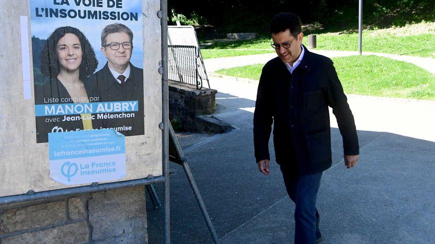 Gabriel Amard, à Lons-le-Saunier le jour du scrutin européen.