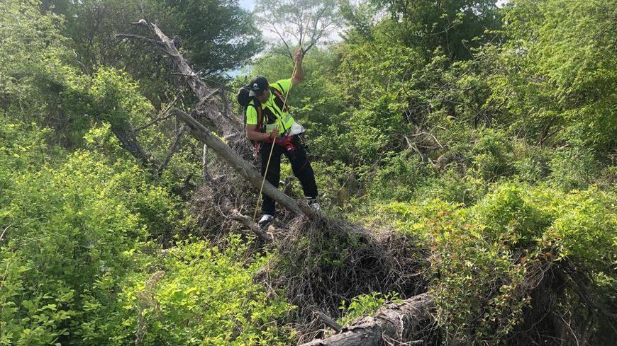 L'un des secouristes de Mountain Medic Events lors des recherches au Japon sur la disparition de Tiphaine Véron