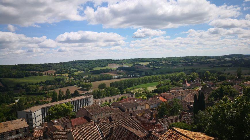 La vue depuis le village de Lauzerte dans le Tarn-et-Garonne
