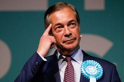 Le fondateur du « Brexit Party », Nigel Farage, au cours d'un meeting de sa campagne électorale, à Londres, le 21 mai 2019.