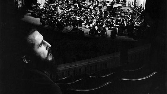 Moondog au Carnegie Hall assistant aux répétitions de l'Orchestre philharmonique de New York