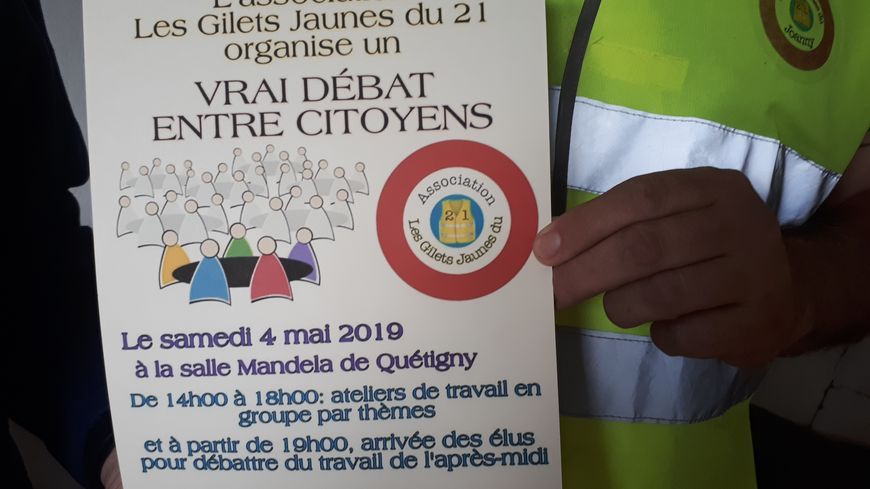 L'association Les Gilets jaunes du 21 organisent ce samedi 4 mai à Quetigny un débat citoyen.