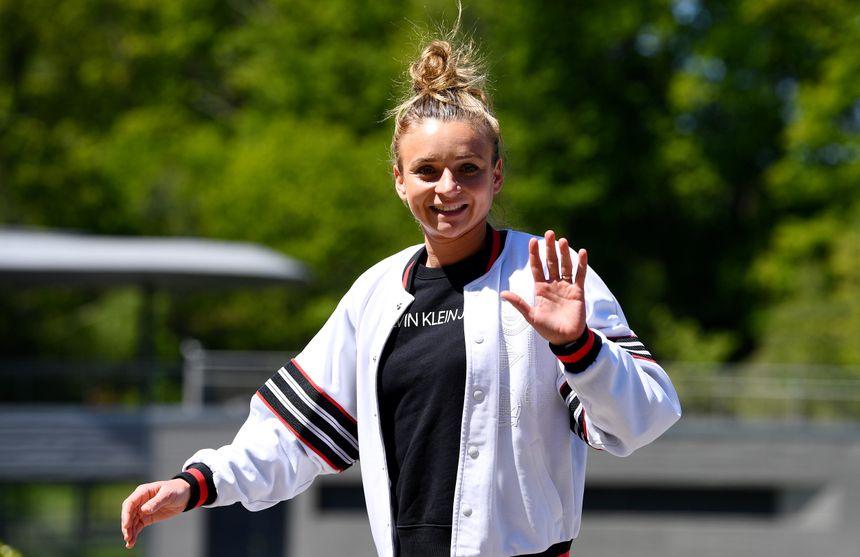 Marion Torrent arrive à Clairefontaine le 13 mai dernier.