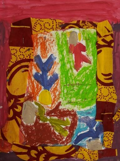 Dessin des élèves de Sandrine Dollinger de l'école nationale à Marseille