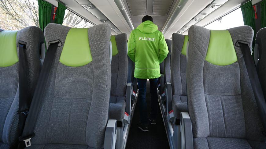 A l'intérieur d'un autocar Flixbus (illustration)