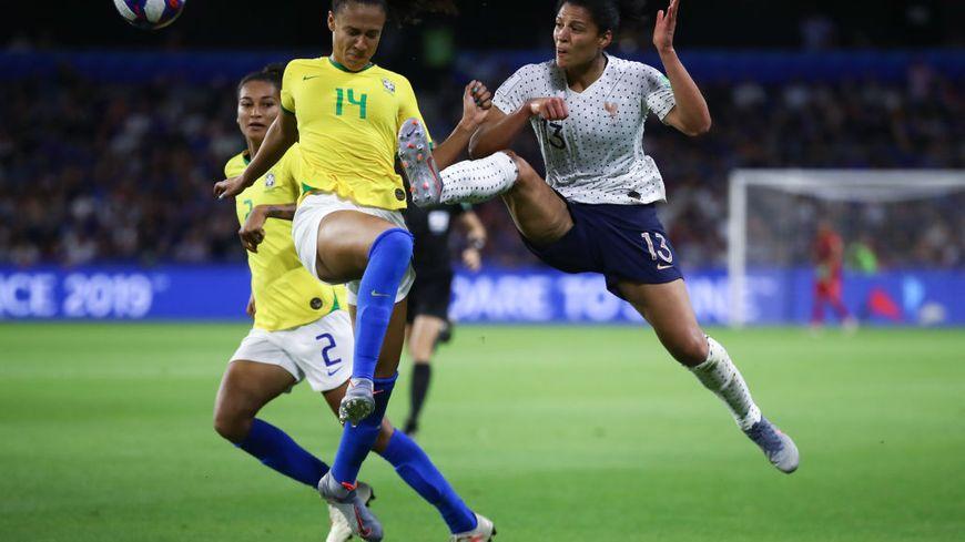 France (Valérie Gauvin) - Brésil en 8e de final de la coupe du monde de football féminin le 23 juin 2019