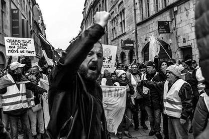 Manifestation Gilet Jaune à Besançon, Bourgogne Franche-Comté.