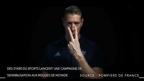 """La campagne """"vigilance noyade"""" est portée par le champion de natation Alain Bernard"""