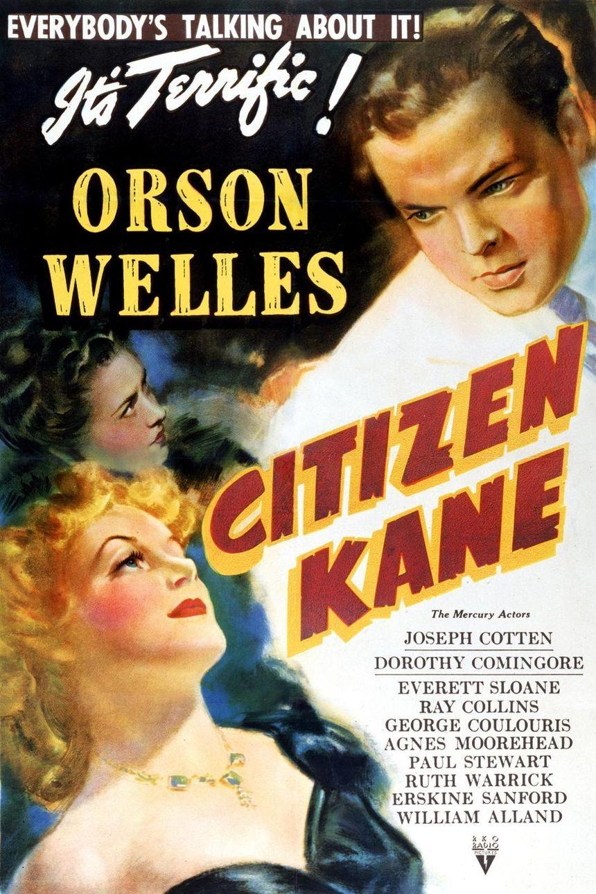 """L'affiche du film """"Citizen Kane"""" d'Orson Welles sorti en 1946"""