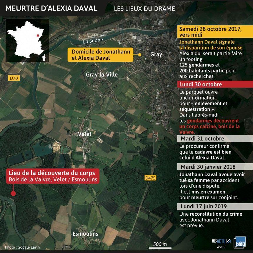 Affaire Daval : les lieux de la reconstitution.