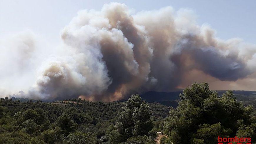 L'incendie a démarré prés du village de la Torre de l'Espanyol, en Catalogne