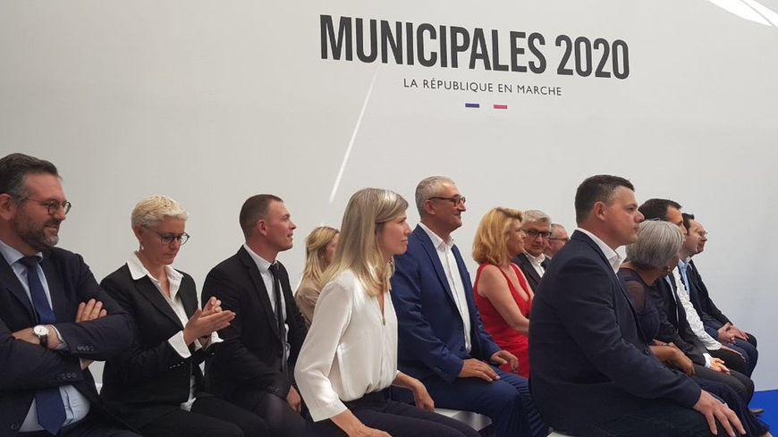 Lors de la présentation des premiers candidats LREM pour les municipales
