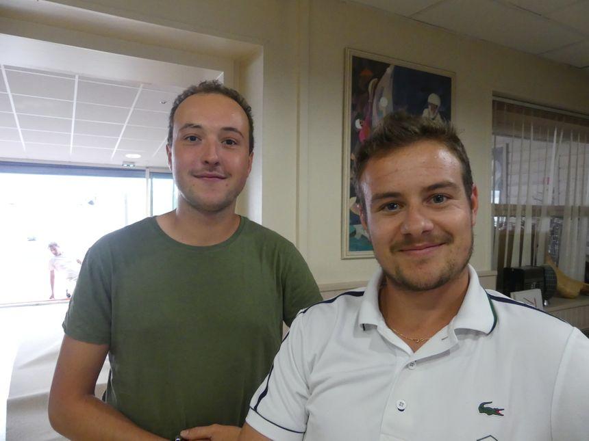 """William Georges (à droite), l'un des responsables de """"Saint Jean de Luz animations et commerces"""""""