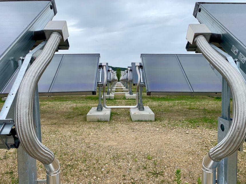 4211m² de panneaux solaires thermiques ont été installées