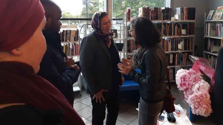 Latifa Ibn Ziaten à la bibliothèque de Bagatelle ce 11 juin 2019.