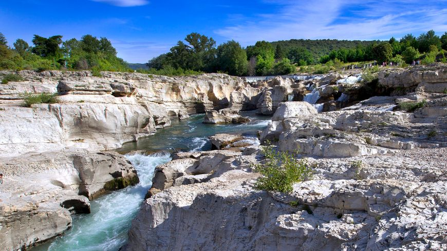 Les Cascades du Sautadet à Roque sur Cèze, dans la zone placée en alerte sécheresse.
