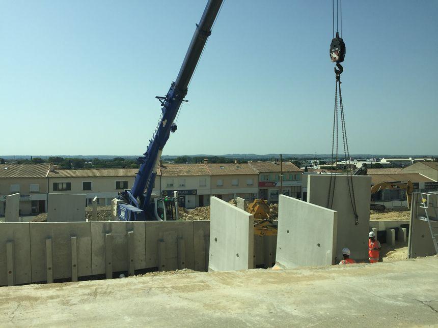 Le chantier de la ligne tram-bus T2 avance à Nîmes