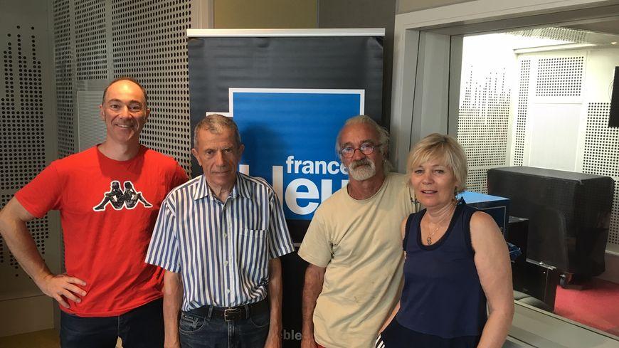 De gauche à droite Philippe Vuillermet, Daniel Blache, Gérard Grosbout et Monique Delbé.