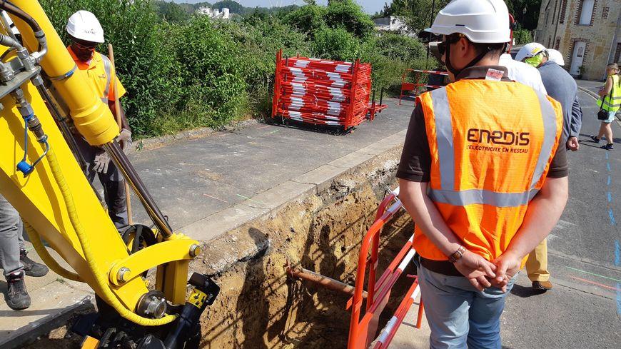 Le chantier à Ranville