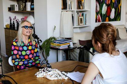 Laure Adler et Léa Salamé pour l'émission Femmes puissantes