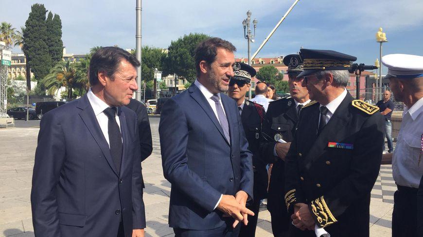 Christophe Castaner, le ministre de l'intérieur, est en visite à Nice