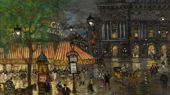 Place de l'Opéra, Paris de Constantin Alexeevich Korovin, Collection privée