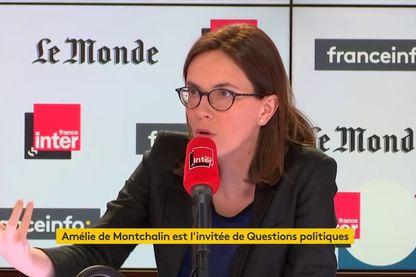 """Amélie de Montchalin dans le studio de """"Questions Politiques"""" le 16 mai 2019"""