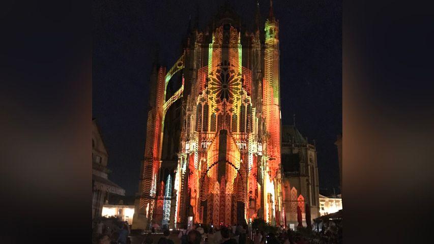 Le mapping vidéo sur la cathédrale de metz est l'un des temps forts du festival Constellations de Metz