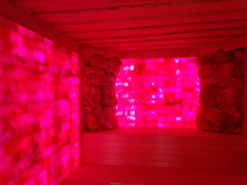 """Le sauna """"grotte de sel"""" au sein de l'espace bien-être"""