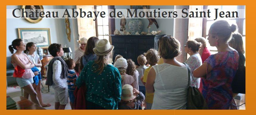 La visite du Château Abbaye de Moutiers Saint Jean