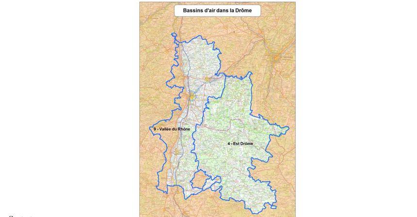 Bassins d'air dans la Drôme