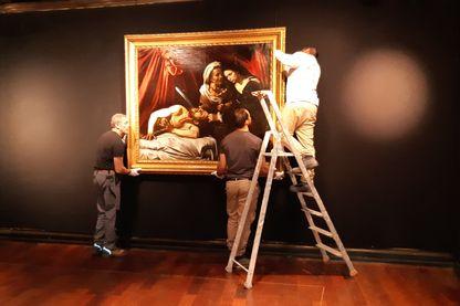 Judith et Holopherne attribué au Caravage est accroché à Drouot à Paris