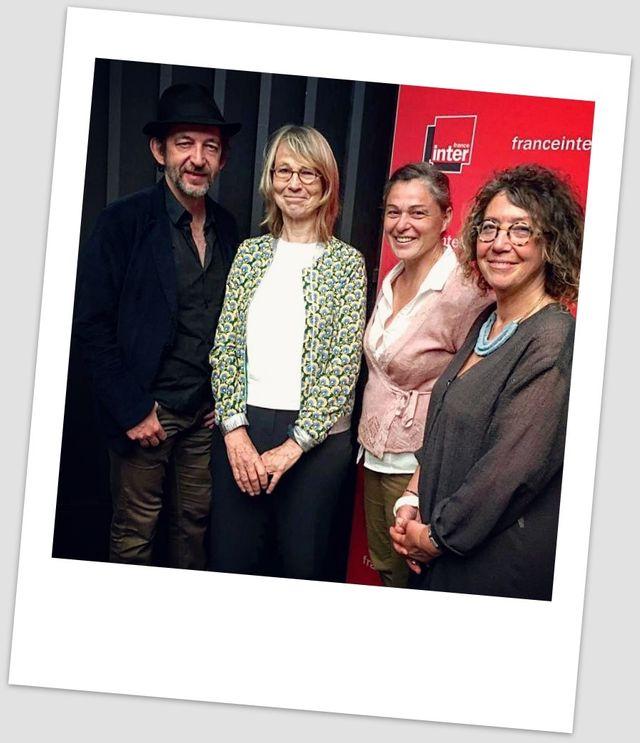Arthur H, Françoise Nyssen, Perrine Hervé-Gruyer et Jeanne Benameur