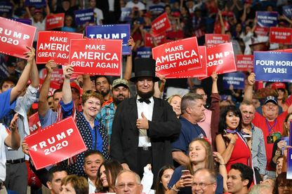 Pendant la campagne de réélection de Donald Trump à Orlando, en Floride pour lancer officiellement sa campagne 2020 le 18 juin 2019.