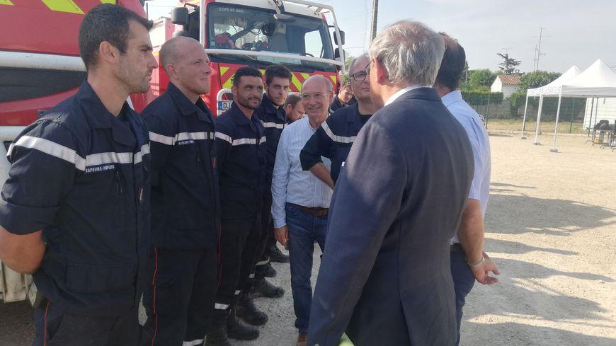 Le préfet du Gard a remercié les sapeurs-pompiers pour leur travail