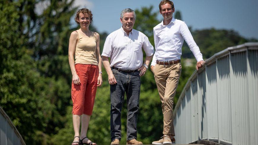 Anne Papier, Sylvain Dalla-Rosa et Damien Lerouge