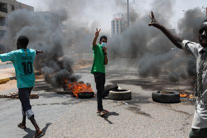 Des manifestants pro démocratie dans le centre de Khartoum