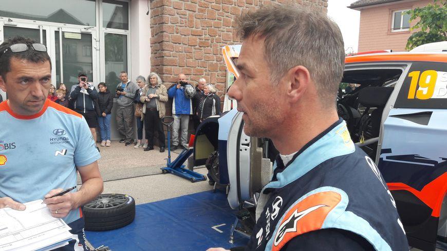 Sébastien Loeb lors des essais ce vendredi à Corcieux