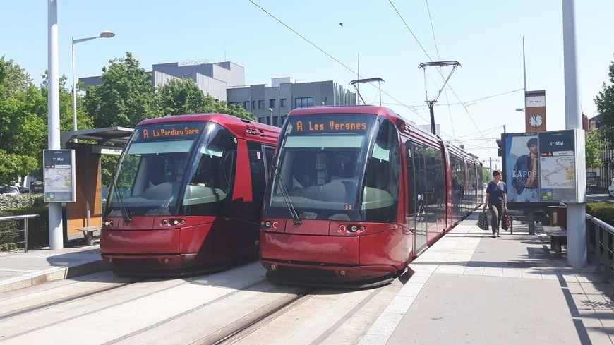 Les rames de tramway en panne à cause d'une surchauffe de la climatisation