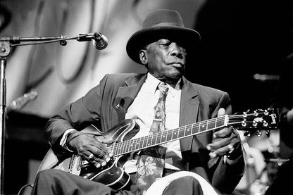 John Lee Hoocker, musicien blues en 1990