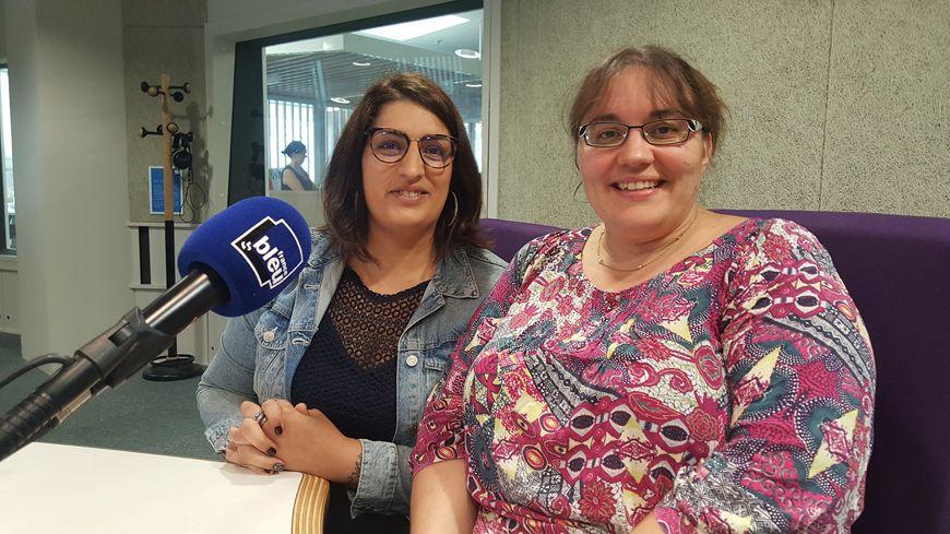 Maryse Vollais et Mélina Benhamed de la CAF