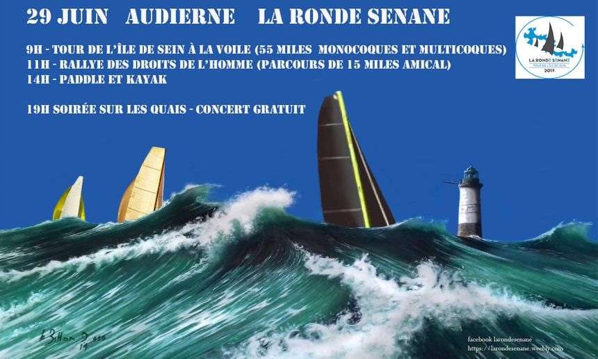 La Ronde Sénane en Baie d'Audierne Tour de l'Île de Sein le 29 juin 2019