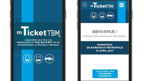 le Billet dématérialisé  M-ticket mis en place via l'application witick pour TBM