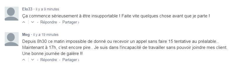 Capture d'écran downdetector.fr