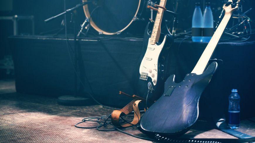 Guitares sur scène