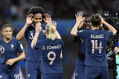 Les joueuses françaises lors de la Coupe du monde de France 2019